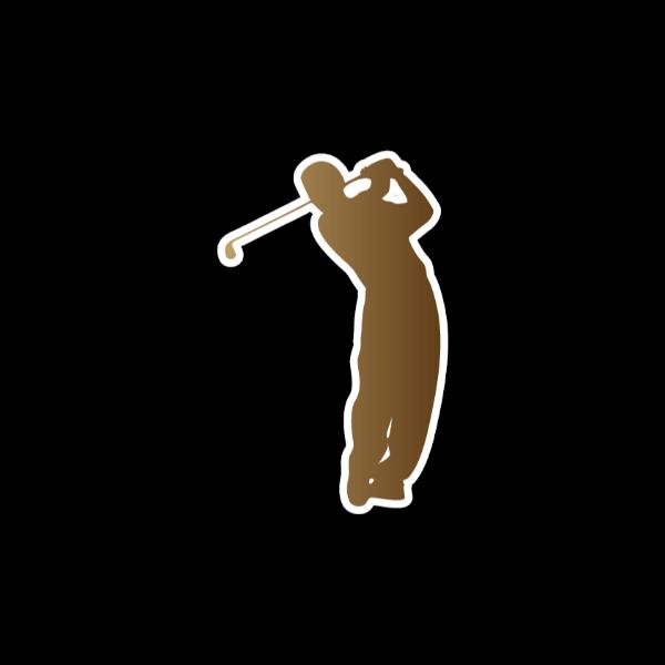 ゴルファー-シルエット3-イラスト