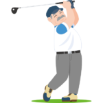 シニア-ゴルファー-イラスト