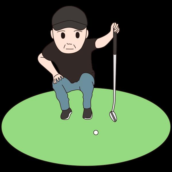 シニア-ゴルファー5-イラスト