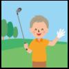 シニア-ゴルファー7-イラスト