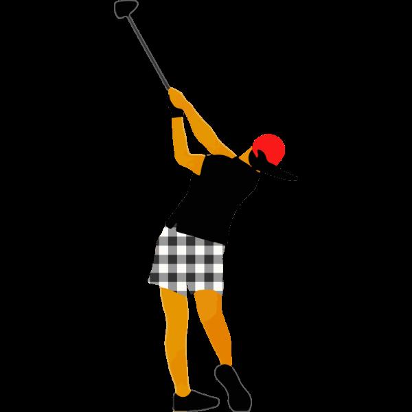 女子ゴルファー3-イラスト