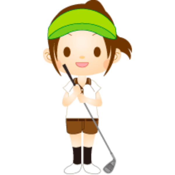 女性ゴルファー-イラスト